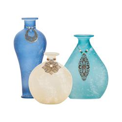 Skylar Set of 3 Adorned Vases