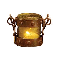 Mission Votive Lantern In Artifact Olive