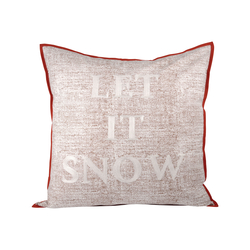 Let It Snow Pillow 24X24-Inch