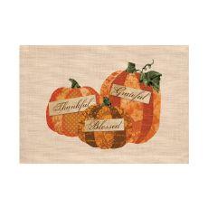 Patchwork Pumpkin 14X20 Placemat