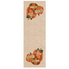 Patchwork Pumpkin 16X48 Table Runner