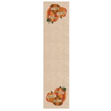 Patchwork Pumpkin 16X60 Table Runner