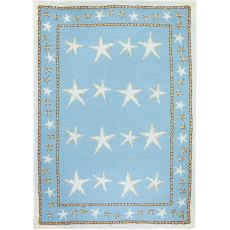 Starfish Scatter  Indoor Outdoor Rug, 3 x 5 ft.