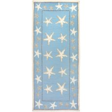 Starfish Scatter Indoor Outdoor Rug, 26 x 60 in.