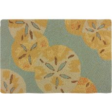 "Sanddollars By The Sea Polypropylene Rug, 22""X34"""