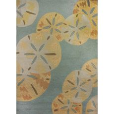 Sanddollars By The Sea Polypropylene Rug, 5'X7'