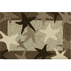 "Starfish Field Polypropylene Rug, 22""X34"""
