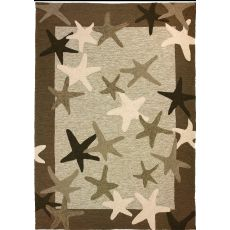 Starfish Field Polypropylene Rug, 5'X7'