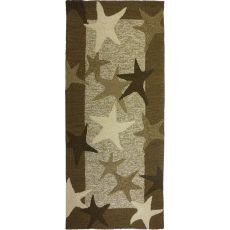 "Starfish Field Polypropylene Rug, 26""X60"""