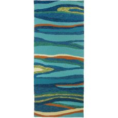 Ocean Waves Indoor Outdoor Rug, 26 x 60 in.