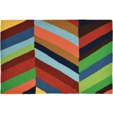 Boho Bold Chevron Indoor Outdoor Hand Hooked Area Rug, 22 X 34 In.