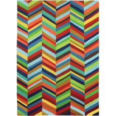 Boho Bold Chevron Indoor Outdoor Hand Hooked Area Rug, 5 X 7 Ft.