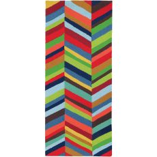Boho Bold Chevron Indoor Outdoor Hand Hooked Area Rug, 22 X 60 In.