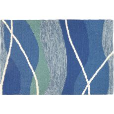 Tranquility Bay Indoor Outdoor Hand Hooked Area Rug, 22 X 34 In.