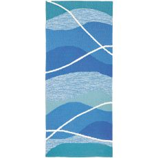 Tranquility Bay Indoor Outdoor Hand Hooked Rug, 26 X 60 Runner