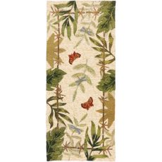 Butterflies & Dragonflies Indoor Outdoor Rug, 26 x 60 in.