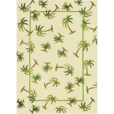 Hanalei Palm Indoor Outdoor Hand Hooked Area Rug, 3 X 5 Ft.