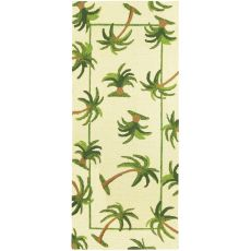 Hanalei Palm Indoor Outdoor Hand Hooked Rug, 26 X 60 Runner
