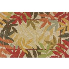 "Painted Rain Forest Polypropylene Rug, 22""X34"""
