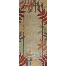 Painted Rain Forest Indoor Outdoor Rug, 26 x 60 in.