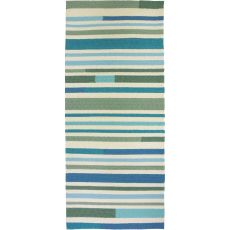 "Sea Breeze Stripes Indoor / Outdoor Rug, 26""X60"""