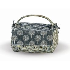 Wicker Napa Basket, Grey