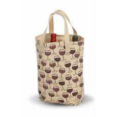 Cork Wine Glass Double Bottle Bag