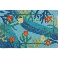 Underwater & Coral Starfish Indoor Outdoor Rug, 22 x 34 in.