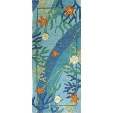 Underwater & Coral Starfish Indoor Outdoor Rug, 26 x 60 in.