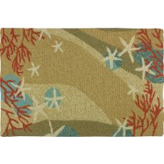 "Coral Waves Polypropylene Rug, 22""X34"""