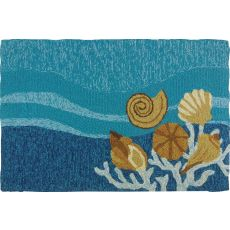 Shells & White Coral Indoor Outdoor Rug, 22 x 34 in.