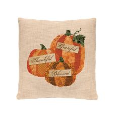 Patchwork Pumpkin 18X18 Pillow