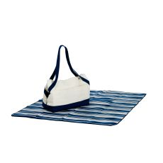 Cotton Canvas Acadia Four Person Picnic Tote, Navy