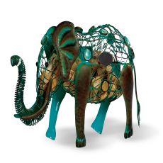 Metal Elephant Wine Cork Caddy