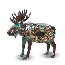 Metal Moose Wine Cork Caddy