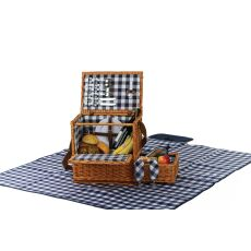 Saratoga 2 Person Picnic Basket With Blanket