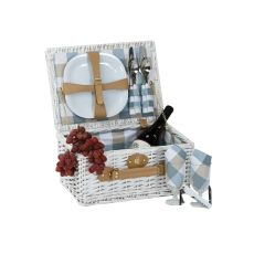 Wicker Boothbay Two person Picnic basket, White
