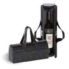 Vegan Leather Carlotta Clutch Wine Bottle Clutch, Grey Swirl