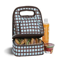 Savoy Lunch Bag, Blue Oyster