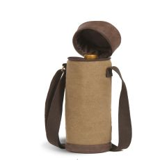 Cotton Canvas Essential Wine Tube, Brown