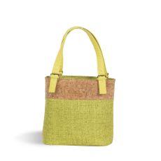 Linen Luxe Double Wine Bag, Celery