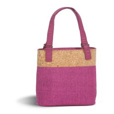 Linen Luxe Double Wine Bag, Fuchsia