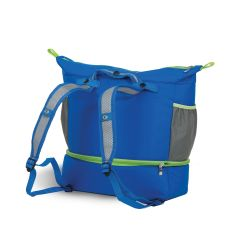 Nylon Helix Expandable Cooler, Electric Blue