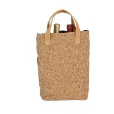 Cork Cork Tote Double Bottle Bag, Cork