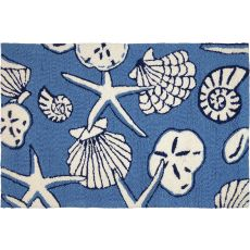 Serenity At Sea Indoor Outdoor Hand Hooked Area Rug, 22 X 34 In.