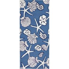 Serenity At Sea Indoor Outdoor Hand Hooked Rug, 26 X 60 Runner