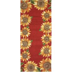 "Sunflower Field Indoor/Outdoor Rug, 26"" X 60"""