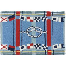 Nautical Plaid Indoor Outdoor Rug, 22 x 34 in.