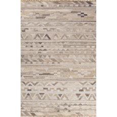 Tribal Pattern Wool And Viscose Prescot Area Rug