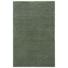 Solids & Heather Pattern Green Wool Area Rug ( 9x13)